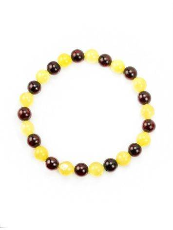 Two Toned Amber Beaded Bracelet, image , picture 3