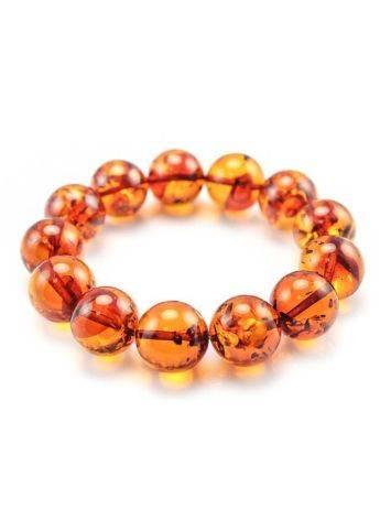 Bright Cognac Amber Beaded Bracelet, image , picture 2