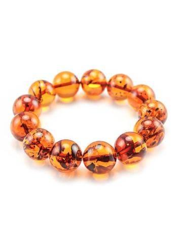 Bright Cognac Amber Beaded Bracelet, image , picture 3