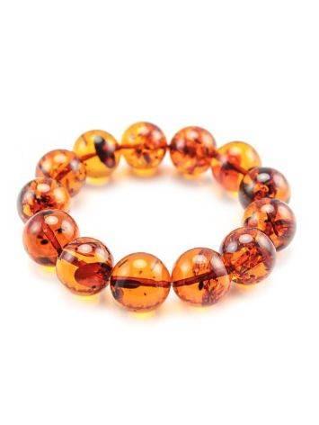 Bright Cognac Amber Beaded Bracelet, image , picture 4
