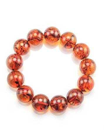 Bright Cognac Amber Beaded Bracelet, image , picture 5