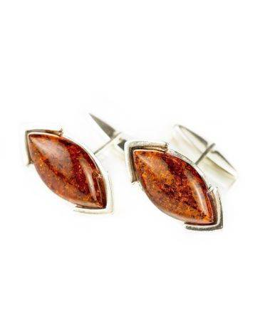 Amber Cufflinks In Sterling Silver The Petal, image , picture 2