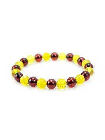 Multicolor Amber Beaded Elastic Bracelet, image