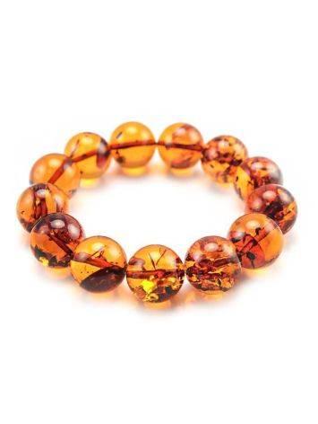 Bright Cognac Amber Beaded Bracelet, image
