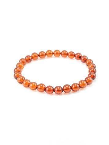 Dark Amber Beaded Elastic Bracelet, image