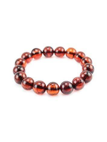 Cherry Amber Ball Beaded Bracelet, image