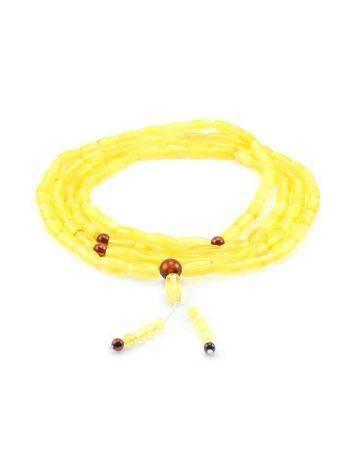 Honey Amber Buddhist Prayer Beads, image