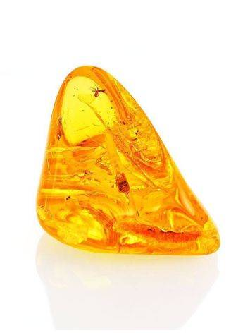 Luminous Amber Stone With Spider Inclusion, image