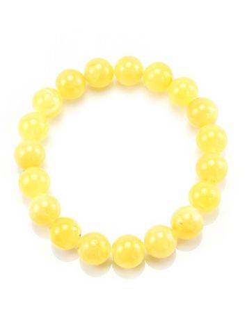 Honey Amber Ball Beaded Stretch Bracelet, image , picture 4