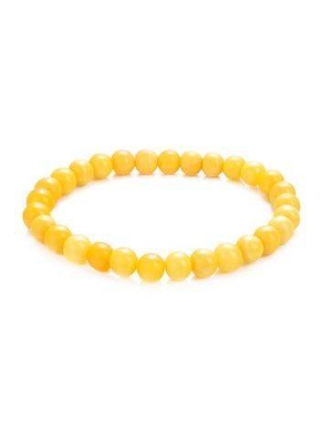 Amber Ball Beaded Elastic Bracelet, image