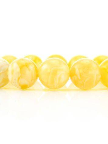 Natural Honey Amber Stretch Bracelet, image , picture 3