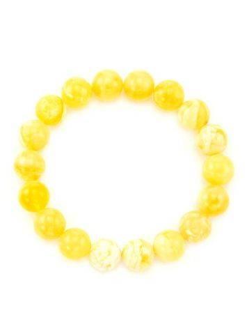 Natural Honey Amber Stretch Bracelet, image , picture 4