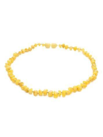 Honey Amber Teething Beaded Necklace, image