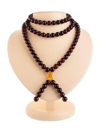 Cherry Amber Buddhist Prayer Beads, image , picture 6
