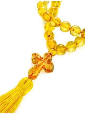 Orthodox 50 Lemon Amber Prayer Beads, image , picture 4
