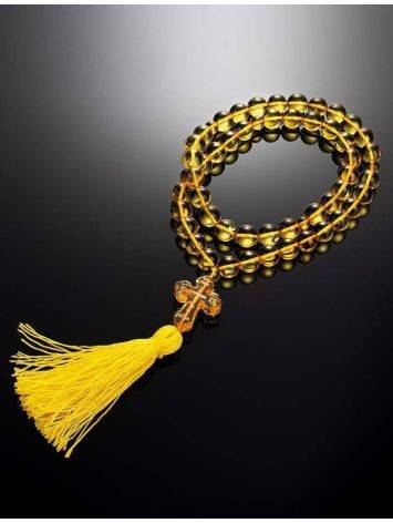 Orthodox 50 Lemon Amber Prayer Beads, image , picture 2