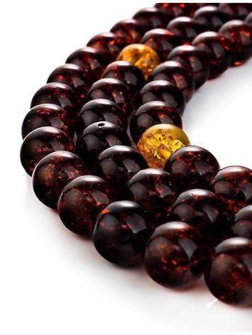 Cherry Amber Buddhist Prayer Beads, image , picture 5