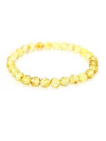 Faceted Lemon Amber Ball Beaded Bracelet The Prague, image