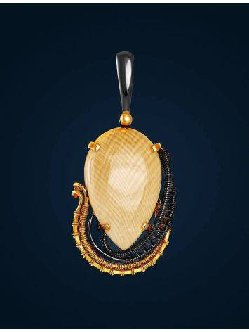Gold-Plated Pendant With Natural Mammoth Tusk The Era, image , picture 2