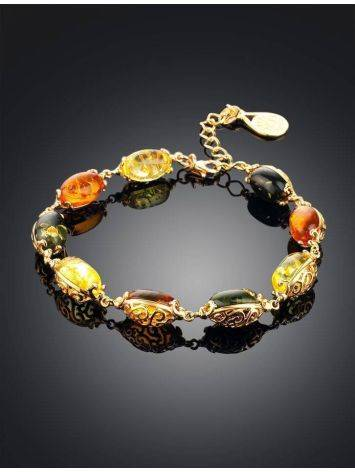 Link Amber Bracelet In Gold Plated Silver The Casablanca, image , picture 2