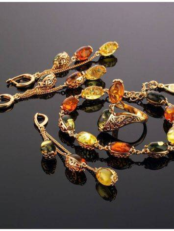 Link Amber Bracelet In Gold Plated Silver The Casablanca, image , picture 4
