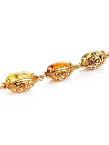 Link Amber Bracelet In Gold Plated Silver The Casablanca, image , picture 3