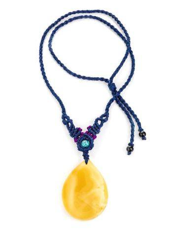 Honey Amber Pendant Necklace The Beijing, image , picture 4