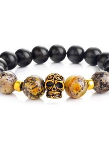Black Amber Bracelet With Wooden Beads The Cuba, image , picture 3