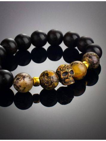 Black Amber Bracelet With Wooden Beads The Cuba, image , picture 2