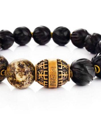 Black Amber Beaded Bracelet With Ebony Wood The Cuba, image , picture 3