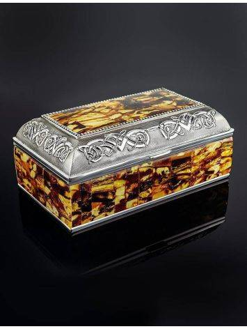 Mosaic Amber Jewelry Box, image , picture 2