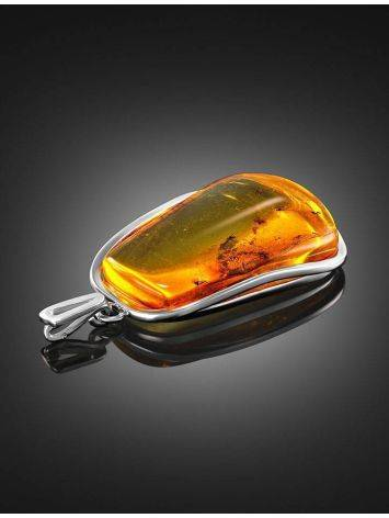 Amber Pendant In Sterling Silver With inclusions the Clio, image , picture 2