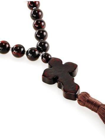 Orthodox 33 Cherry Amber Prayer Beads, image , picture 3