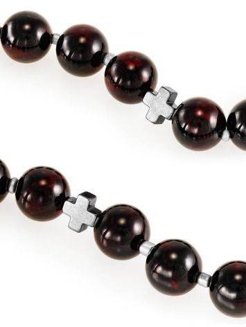 Orthodox 33 Cherry Amber Prayer Beads, image , picture 4