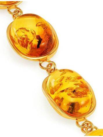 Link Amber Bracelet In Gold Plated Silver With Inclusions The Clio, image , picture 9