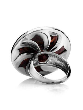 Cocktail Amber Ring In Sterling Silver The Monaco, Ring Size: 6.5 / 17, image , picture 5