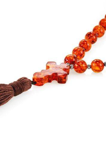 Orthodox 33 Cognac Amber Prayer Beads, image , picture 3
