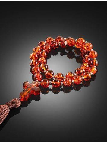 Orthodox 33 Cognac Amber Prayer Beads, image , picture 2