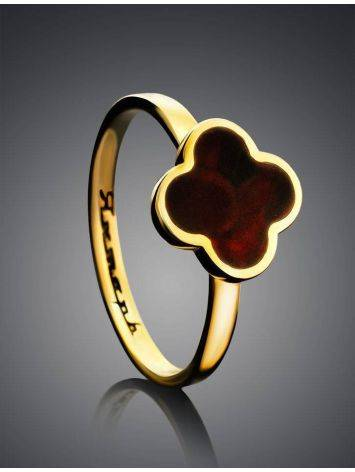 Alhambra Amber Ring In Gold-Plated Silver The Monaco, Ring Size: 8 / 18, image , picture 2