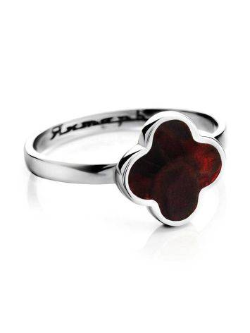 Alhambra Amber Ring In Sterling Silver The Monaco, Ring Size: 5.5 / 16, image , picture 3