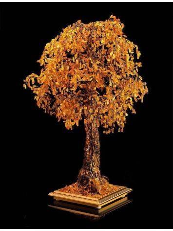 Cognac Amber Decorative Feng Shui Money Tree, image , picture 2