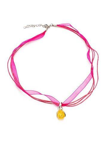 Lemon Amber Choker In Sterling Silver The Flamenco, image , picture 3