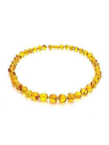 Lemon Amber Beaded Necklace, image , picture 3