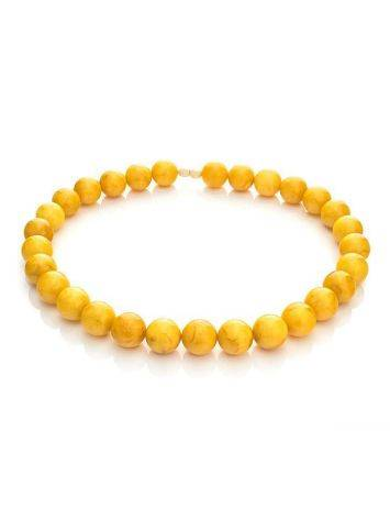 Aged Honey Amber Beaded Necklace, image , picture 4