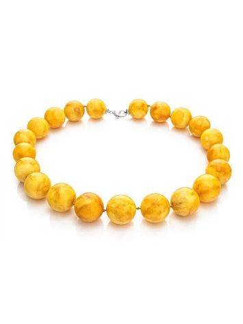 Vintage Style Amber Ball Beaded Necklace, image , picture 4