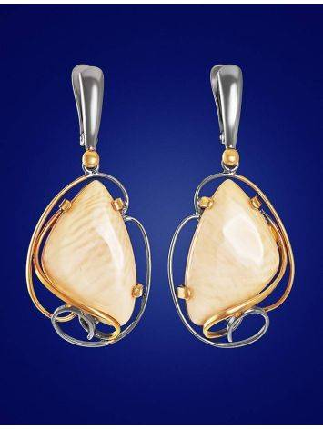 Bold Mammoth Tusk Earrings In Gold-Plated Silver The Era, image , picture 3