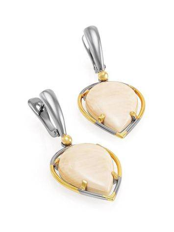Drop Cut Mammoth Tusk Earrings In Gold-Plated Silver The Era, image , picture 3