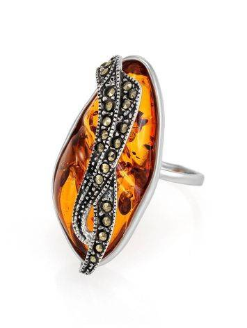 Amber Cocktail Ring With Marcasites The Colorado, image , picture 4