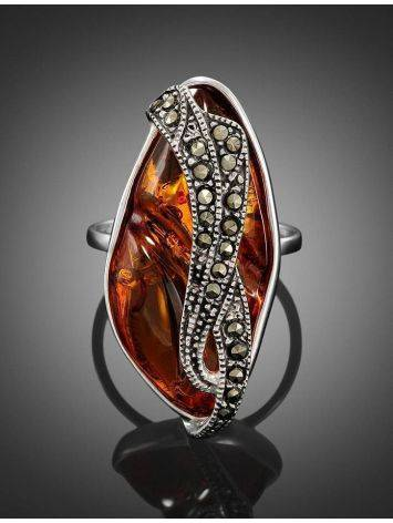 Amber Cocktail Ring With Marcasites The Colorado, image , picture 3