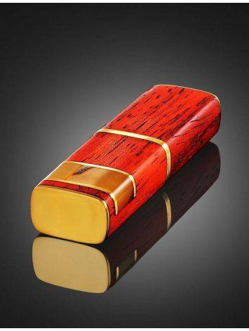 16 Gb Handcrafted Amber Flash Drive With Padauk Wood The Indonesia, image , picture 2